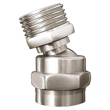 Super Dusche Kopf Swivel Adapter Kugelgelenk, Duschkopf verstellbar FU23