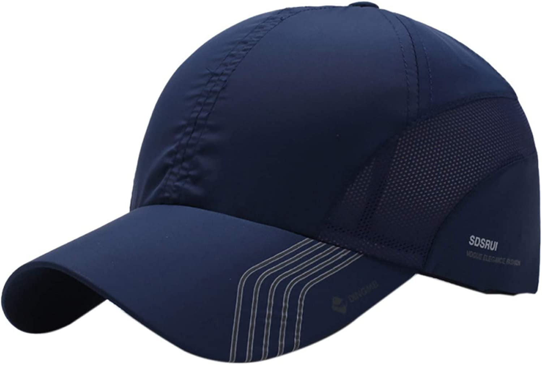 Striped Mesh Quick Dry Baseball Cap Summer Unisex Cap Adjustable Hat Women Men Fishing Caps Solid Cotton
