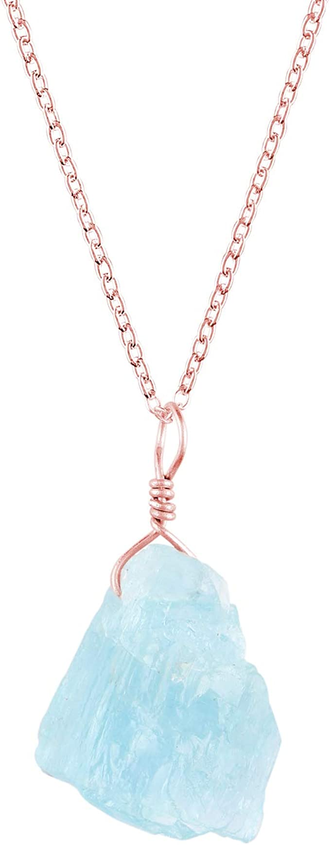 Natürliche 10x14mm Blau Aquamarin Reis Edelstein Halskette 36/'/' AAA++