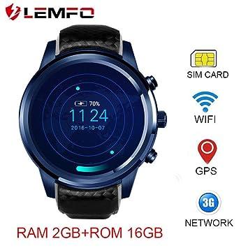 3 G Smart Watch Teléfono, lemfo lem5 Pro - CON Ranura de Tarjetas ...