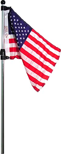 Flag Pole/Holder with Telescoping US Flag [SeaSense] Picture