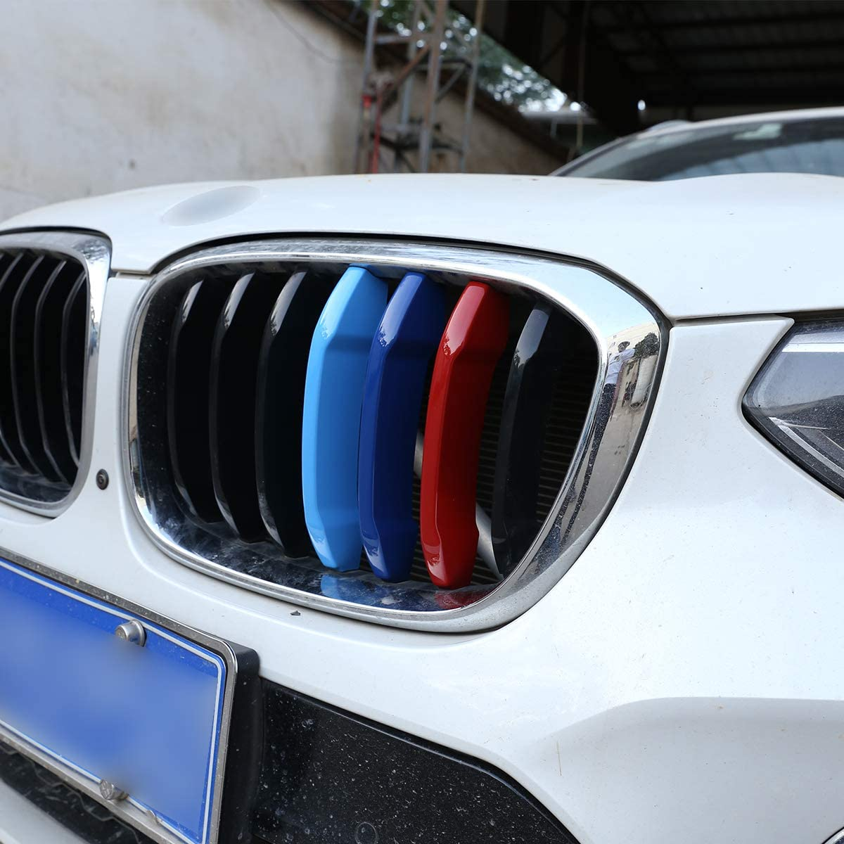 2011-2017 BMW X3 X4 LLKUANG 3 Color Front Grill Cover Trim ABS Chrome Sequin for BMW X3 X4 f25 F26 2011-2017