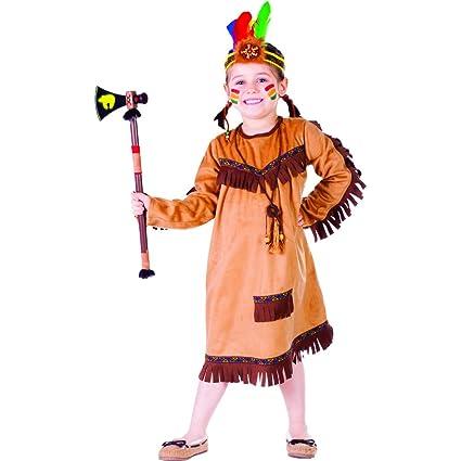 Dress Up America Brave Indio Niña Disfraz: Amazon.es ...