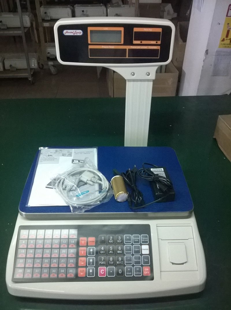 balanza bascula 3 vendedores nueva con impresora de ticket y 10000 plus: Amazon.es: Industria, empresas y ciencia