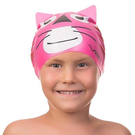 Cuffia da nuoto in silicone bambini a forma di animale per bambini e  bambine di età d671707e0062