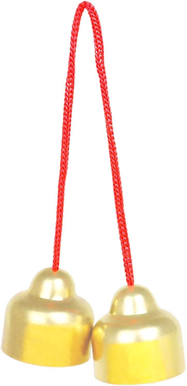 kaikki Campana De Latón Mediana En Cuerda, Instrumento De Percusión De Juguete Musical para Niños, Instrumento Musical De Sonido Nítido para Niños para Tren De Audición