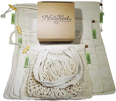 zero waste mesh bags  produce bags  shopping bags