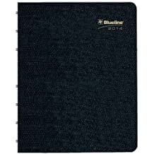 Rediform Blueline 2014 MiracleBind Weekly Planner, Twin-Wire, Black, 11 x 9.0625 Inches, with Repositionable Notes Pages (CF5950.81T)