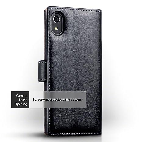 Sony Xperia XA1 Funda Cartera con tapa para billetera y compartimento para dinero, adaptable en posicion horizontal: Amazon.es: Electrónica