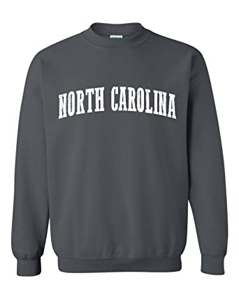 Ugo NC North Carolina Flag Charlotte Map 49ers Home of University of NC UNC Unisex Crewneck