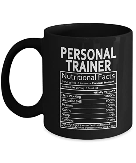 Personal Trainer Nutritional Facts Mug