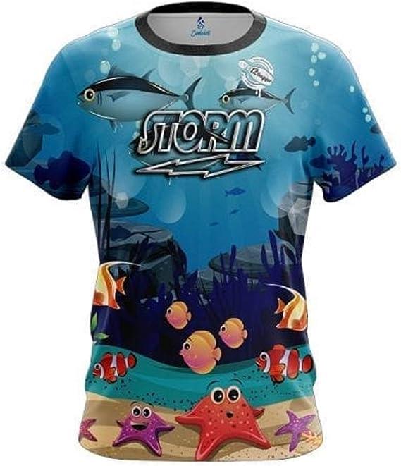 CoolWick Storm Aqua Swirl Bowling Jersey