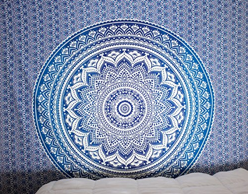 Blue Tapestry Ombre Tapestry Hippie Mandala Bedding