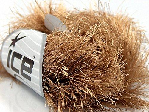 Long Yarn Eyelash (Light Brown Extra Long Eyelash Yarn Ice Luxurious Fun Fur 50gr 38yds 14170)