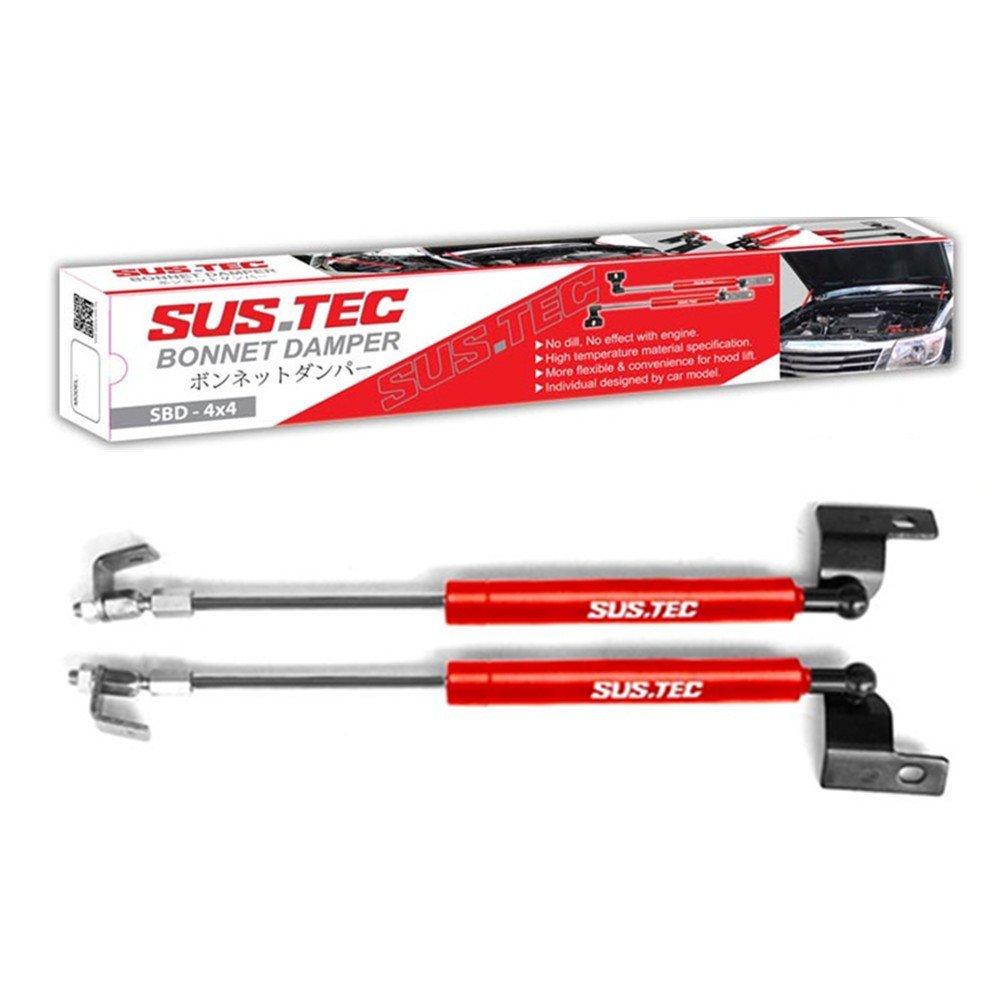 Sustec Front Hood Bonnet Damper Gas Strut Shock Up Lift Lifter - Mitsubishi Triton L200 2005-2013 0.5kg Red