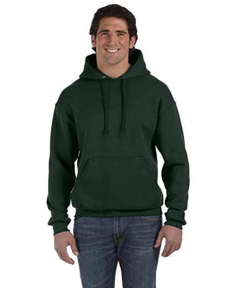 Fruit of the Loom Super Heavyweight Pullover Hood - FOREST GREEN - Small