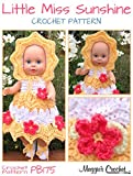 Crochet Pattern Little Miss Sunshine Doll Set PB175