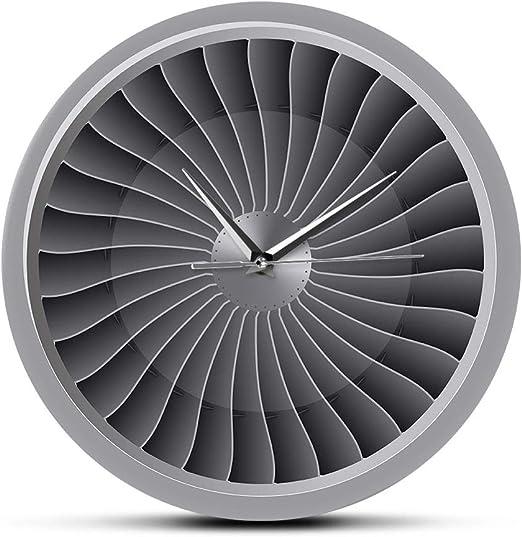 EWJY Motor A Reacción Turbina Ventilador Aviador Reloj De Pared ...