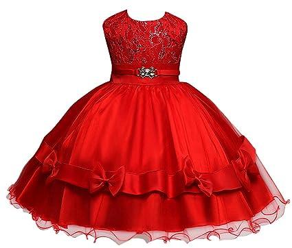 Vestido de fiesta para bebe rojo