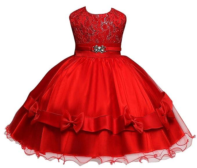 Happy Cherry - Falda Princesa de Niñas para Boda Fiesta Ceremonia Vestido Tutú de Tul sin