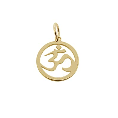 Solid 9ct yellow gold om ohm aum hindu yoga pendant with optional solid 9ct yellow gold om ohm aum hindu yoga pendant with optional 1mm wide trace chain in gift box available in 16 to 24 amazon jewellery aloadofball Image collections