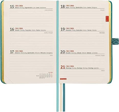 Finocam Agenda 2021 Semana vista apaisada Minimal Design Moon Catal/án 86 x 131 mm