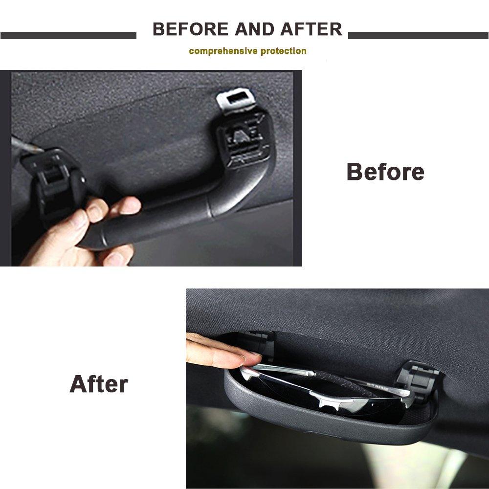 tbparts /Étui /à lunettes pour voiture S/'installe sur la poign/ée de support avant