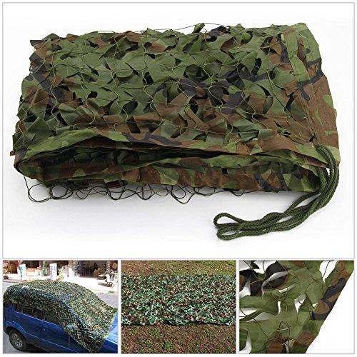 2 X 3m Woodland Filets de Camouflage Militaire Tactique Pour Camping Chasse Tournage Vert 2