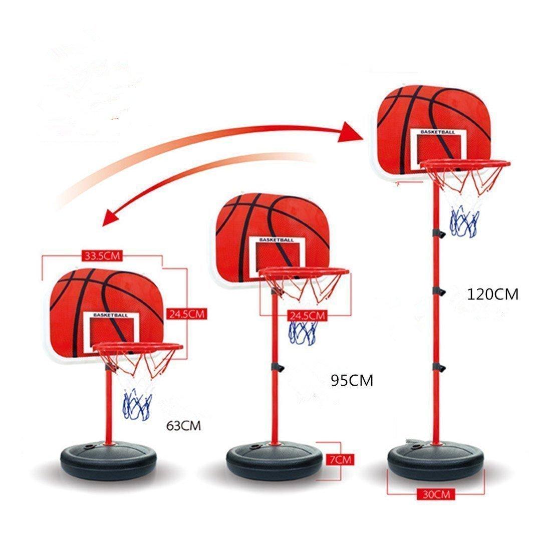 Canasta de baloncesto de altura ajustable y soporte estable con ...