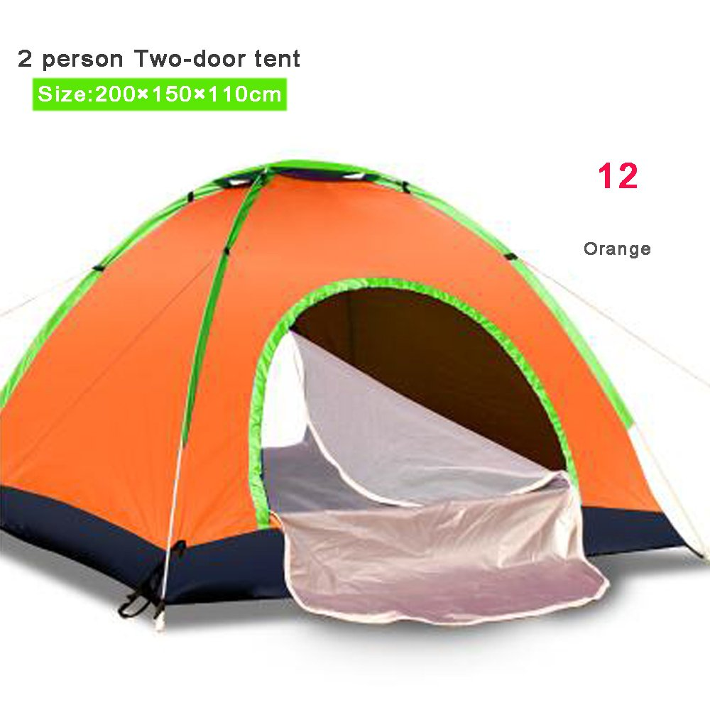 12 Camping Tent 1 2 34 Person Outdoor Waterproof Anti UV Oxford Hiking Beach Tent