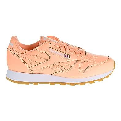 cc1e0f72c63c4 Reebok Men s CL LTHR Sneaker Desert Glow White Gum 8 ...