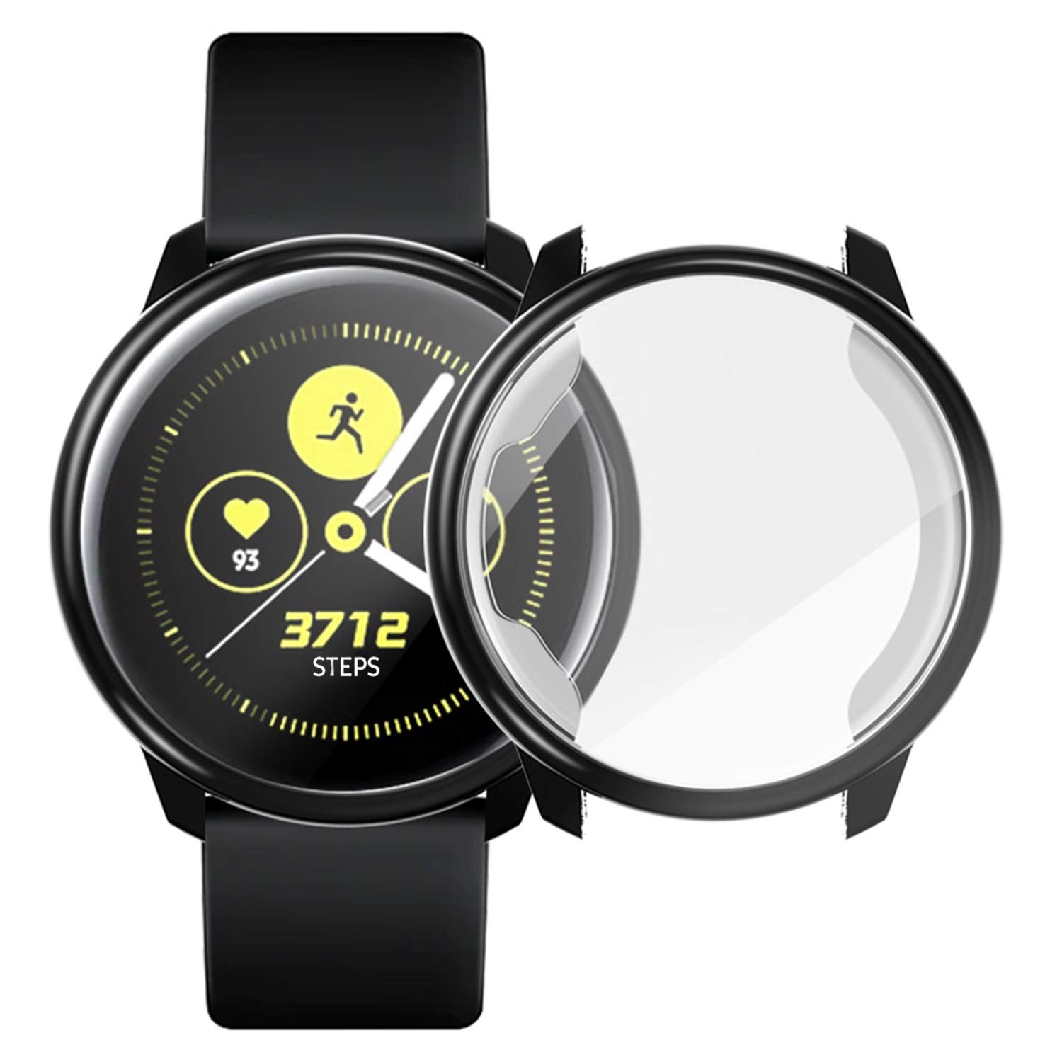 Screen Protector Clear Case for Samsung Galaxy Watch Active 40mm, All-Around TPU Anti-Scratch Flexible Case Soft Protective Bumper Cover for Samsung ...