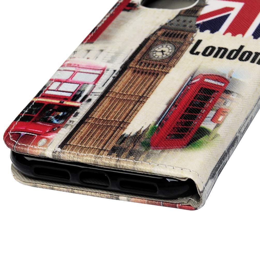 VoguSaNa Kompatible f/ür Handyh/ülle iPhone 11 H/ülle Wallet Case Cover PU Leder Tasche Malen Muster Flipcase Schutzh/ülle Handytasche Skin St/änder Klapph/ülle Schale Bumper M/ädchen-Britisch Flagge