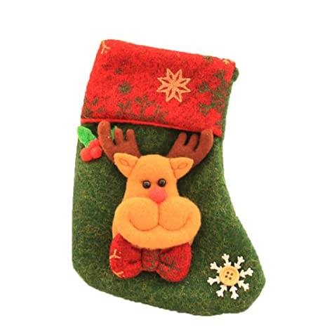 DDG EDMMS la decoración de Navidad con los Calcetines de 13 * 18 cm de Mini