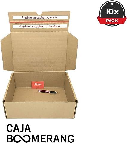Cajeando | Pack de 10 Cajas de Cartón para Envíos (Caja Boomerang ...