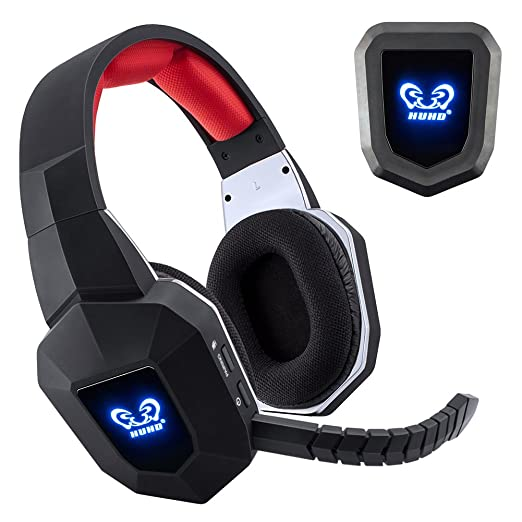 Bligli 2,4 gHz óptico USB, cancelación de ruido auriculares inalámbricos Gaming para XBOX 360, Xbox One, PS4, PS3, PC con desmontable micrófono: Amazon.es: ...