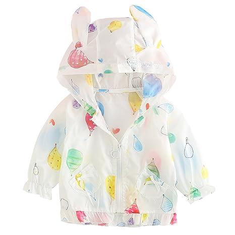 Bebé Niñas Chaquetas Verano Abrigo de protección solar Chaqueta con Capucha Protección UV Abrigos Ropa de