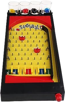 F Fityle Clásico Juego De Fiesta para Beber Juego De Pinball Juego De Vaso De Tiro Juego De Sudsball Regalo: Amazon.es: Juguetes y juegos