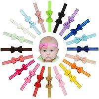 Vendas del Pelo de la Venda de Las Muchachas del bebé del Bowknot de la Cinta del Grosgrain Stretch para los niños…