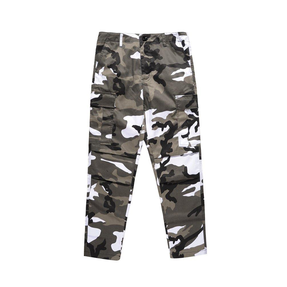 Dooxi Uomo Casuale Moda Pantaloni da Jogging Camo Hip Hop Cargo Pantaloni