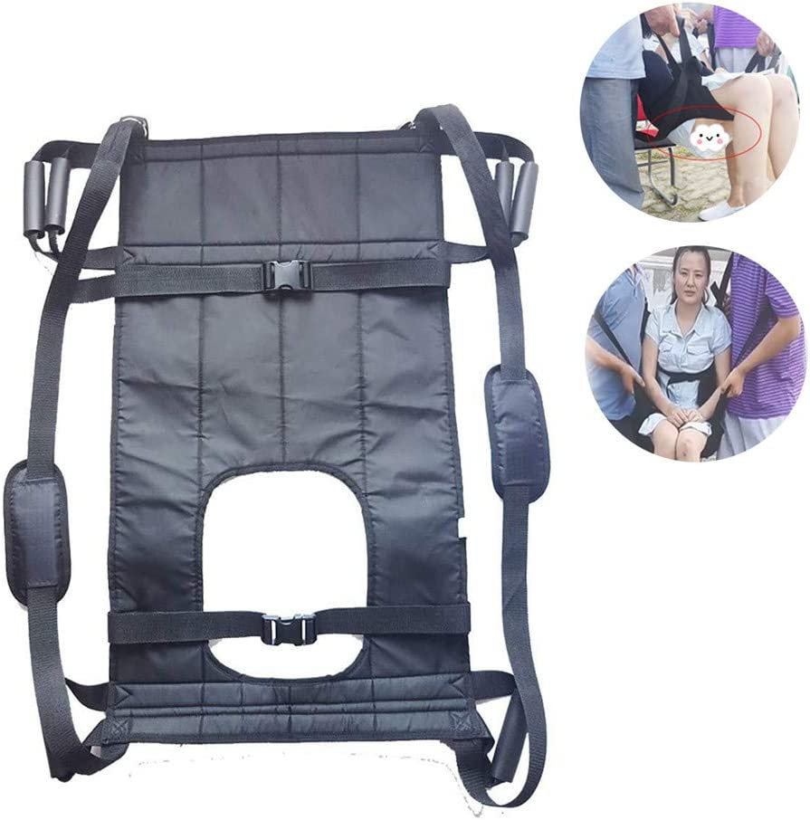 Cinturón de transferencia con asas, ayuda para reposicionamiento de automóviles, vehículos, sillas de ruedas, inodoros, traslados de cama, cabestrillos elevadores para personas mayores, discapacidad