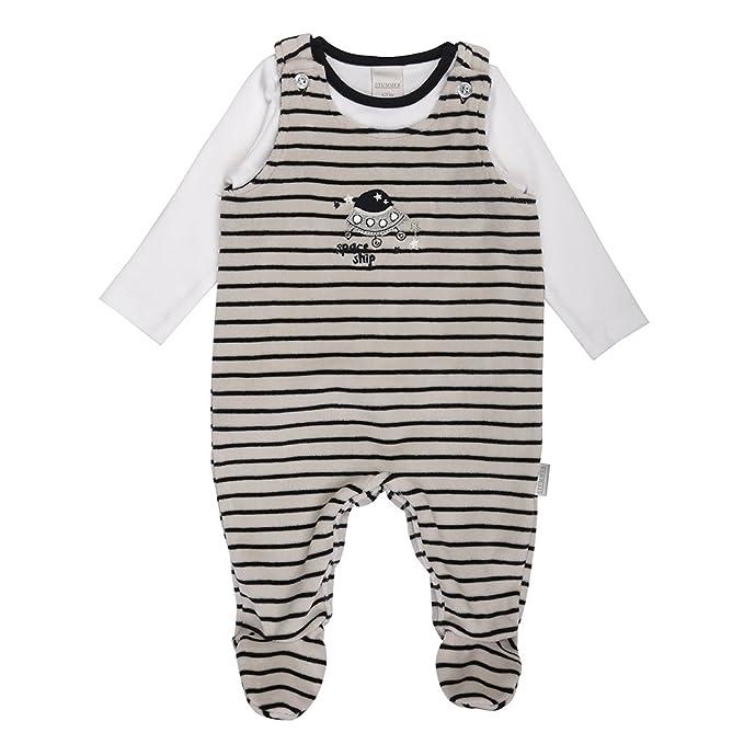 Nacimiento Bebé Niño Set, Shirt, Camiseta e Pelele, Azul, Blanco, Talla