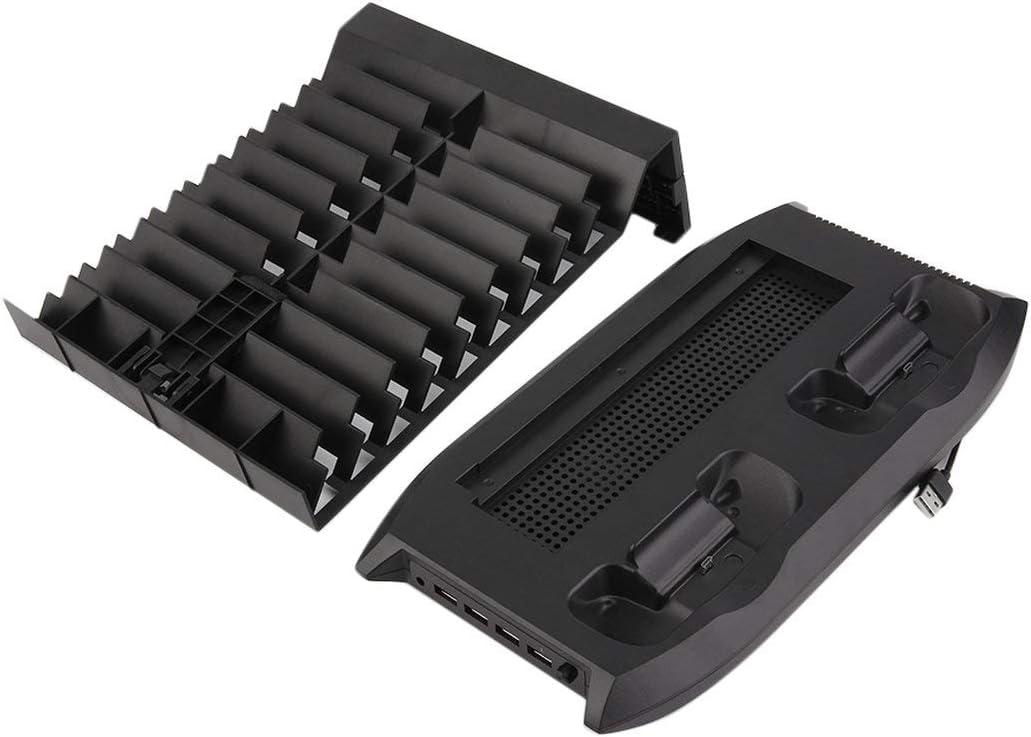 ブラック - プロフェッショナル冷却ファンクーラー+ベース+充電器ディスクがセットのためにXBOX ONE多機能アクセサリについてはXBOX ONEラック