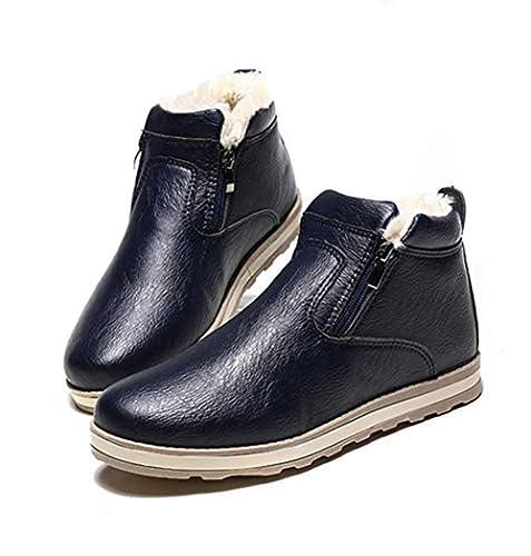 Botas de Invierno para Hombres Botas de Nieve cálida Forro Zapatillas de Deporte Botas Impermeables: Amazon.es: Zapatos y complementos