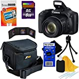 Canon Powershot SX530 HS 16.0 MP Digital Camera with 50x Optical Zoom, Built-in Wi-Fi and 1080p Full HD Video + 7pc Bundle 8GB Accessory Kit w/ HeroFiber® Ultra Gentle Cleaning Cloth