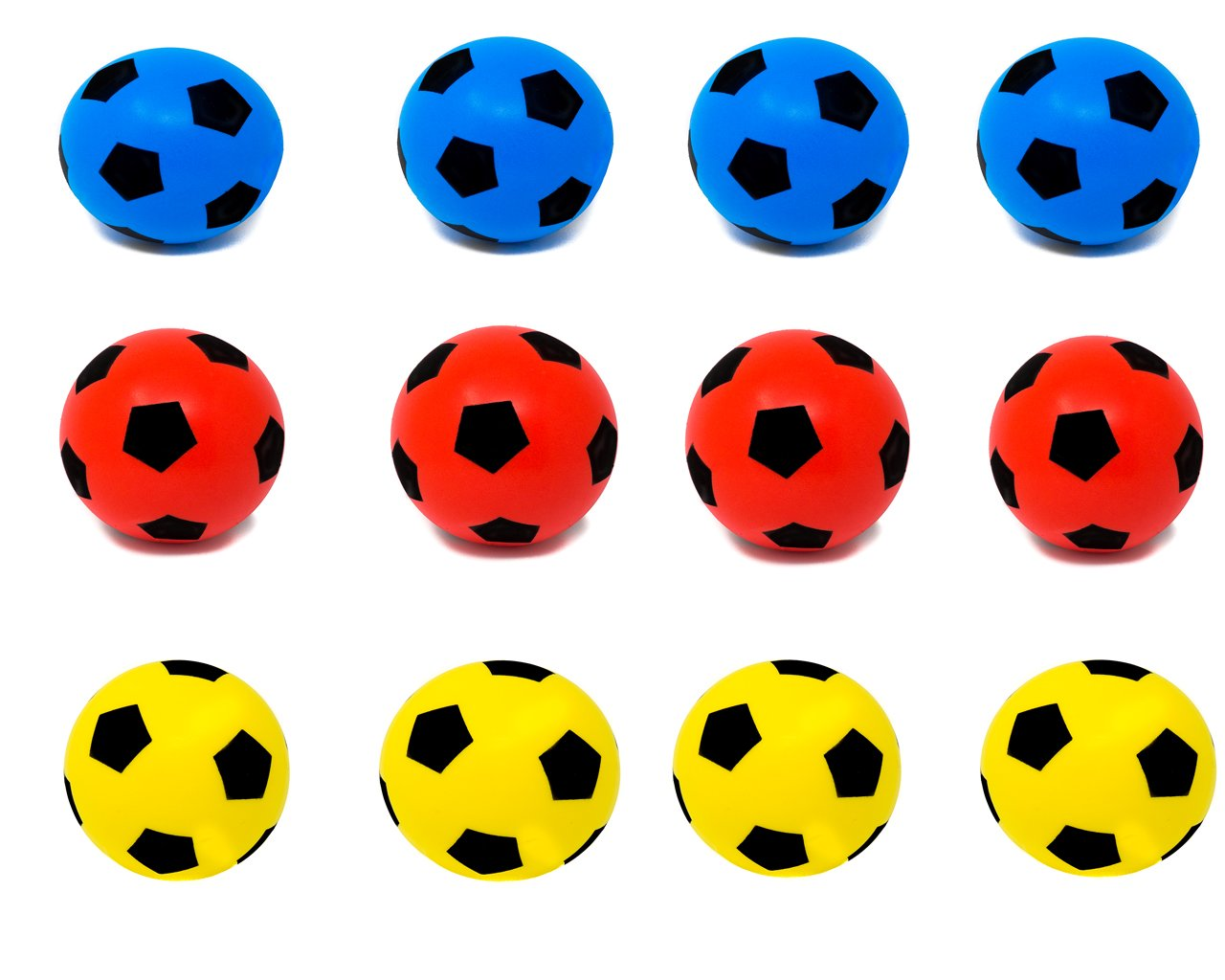 E-Deals balón de fútbol de Espuma Suave - Paquetes, 17.5cm - 4B+4R ...