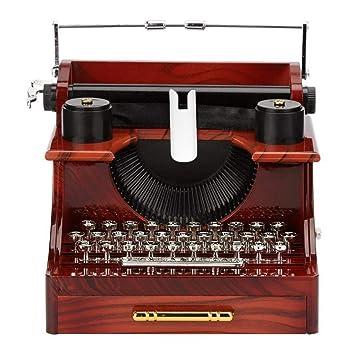 LYMDY Cajas Musicales Viernes Negro Creativo clásico Modelo de máquina de Escribir Caja de música de