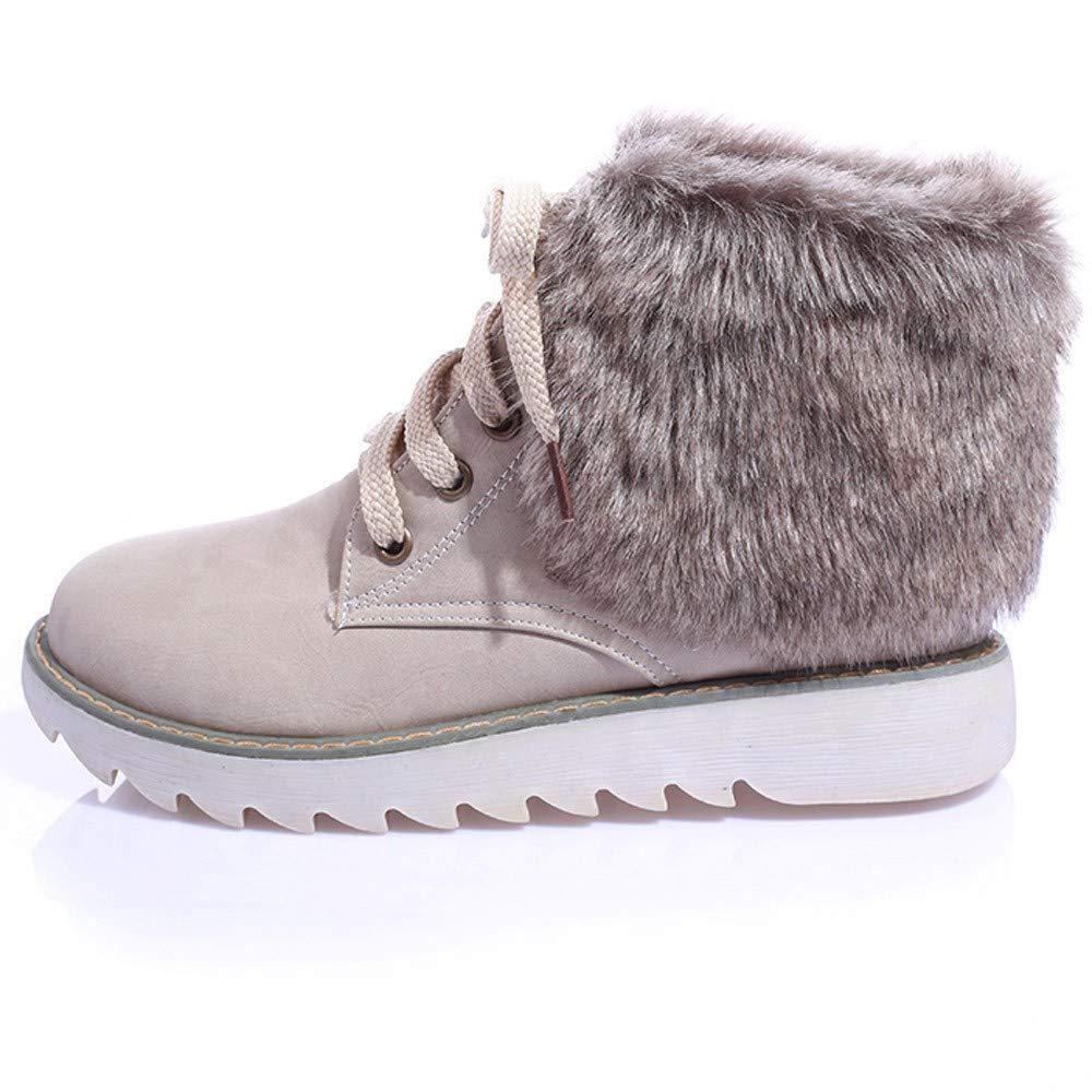 Botas de Peluche con Zapatos Planos y Bajos Botas para la Nieve LILICAT® Moda para la Mujer Botas para la Nieve Zapatillas de Plataforma Botines de Invierno ...