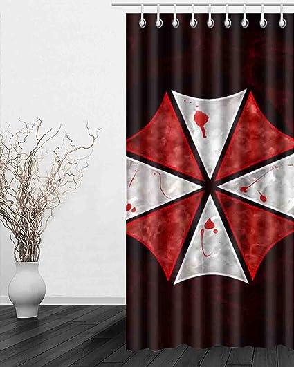 jiduidodo único Decoración Regalos personalizados paraguas feliz Halloween cortina de ventana para sala de estar,