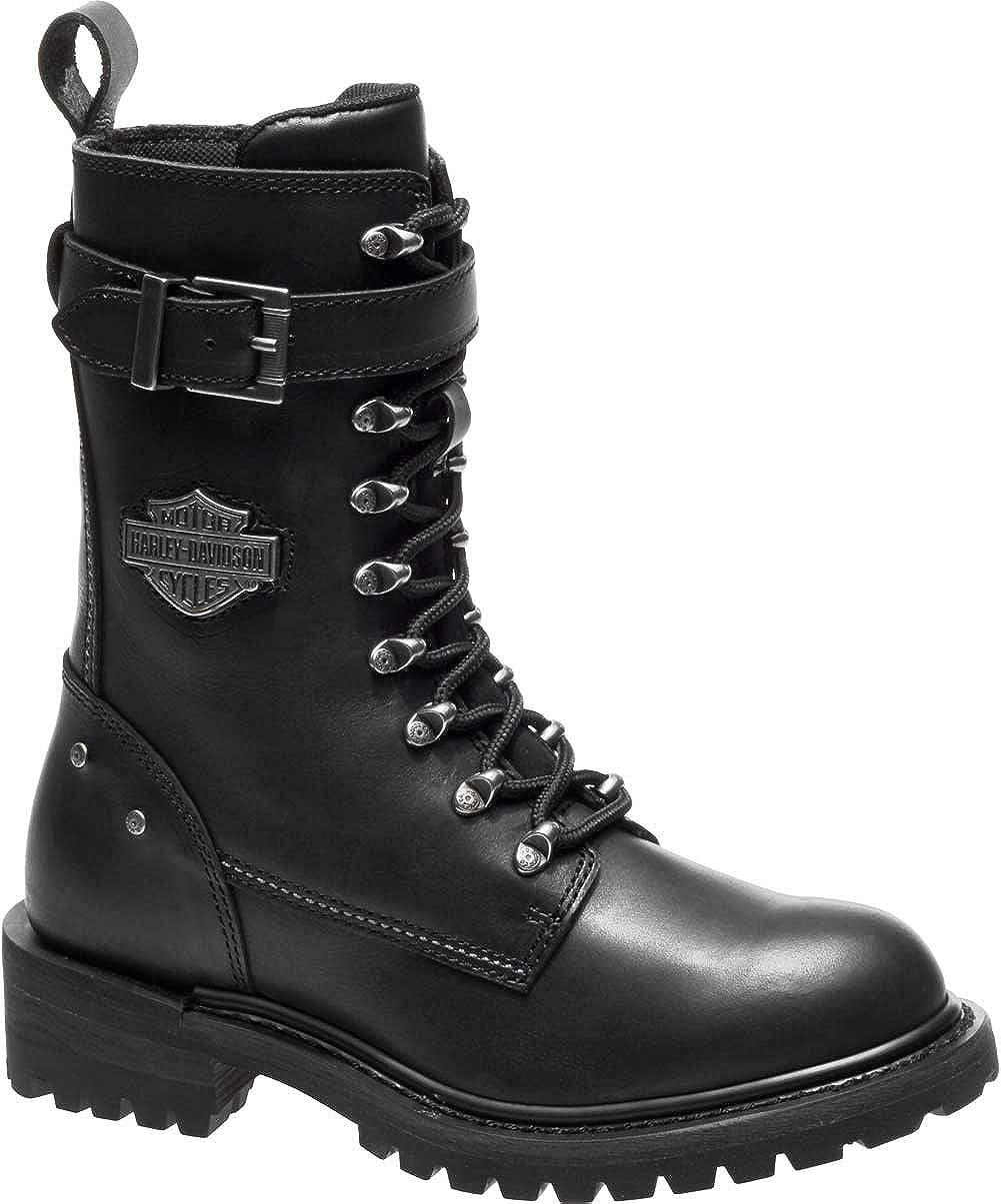 645626b1c9df Amazon.com  Harley-Davidson Women s Calvert 8-Inch Motorcycle Boots D87153   Harley-Davidson  Clothing